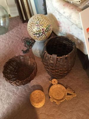 Baskets and Yard Light