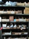 Shelf and contents including pneumatic cylinders, o-rings, adapters, couplings,and more