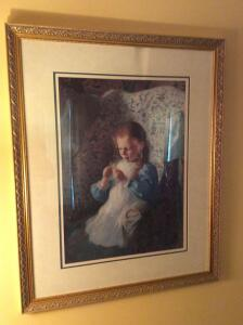 Young Girl in Wingback