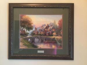 Thomas Kinkade's Cobblestone Bridge