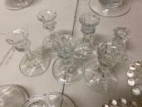 Miscellaneous Clear Glass Candle Holders - 4