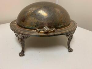 Silverplate Covered Vegetable Dish