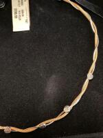 Italian Gold and Silver Twist Necklace - 5