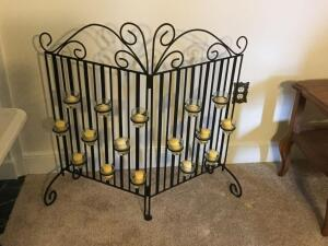Fireplace Candle Screen
