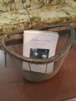 Metal Magazine Basket with Sumter History