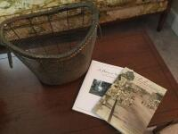 Metal Magazine Basket with Sumter History - 2