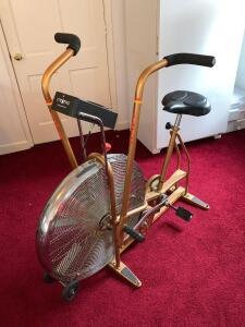 Schwinn Air-Dyne bronze exercise bike