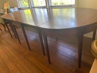 Drop leaf table with two banquet ends - 2