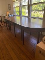 Drop leaf table with two banquet ends - 4