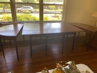 Drop leaf table with two banquet ends - 7