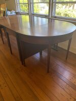 Drop leaf table with two banquet ends - 8