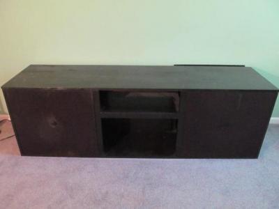 Lot 521 Of 314: Black Home Built Stereo Cabinet/entertainment Center