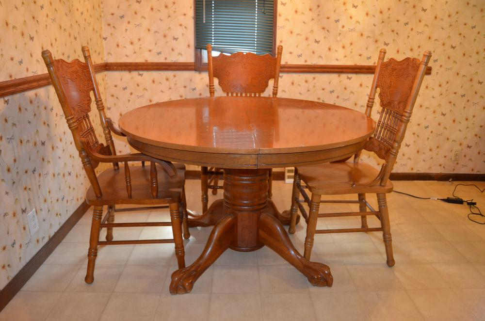 Marvelous Lot 2 Of 27: Walter Of Wabash Claw Foot Table And 4 Chairs