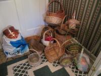 Assorted Baskets and metal tins