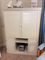 White Entertainment Cabinet (contents not included)