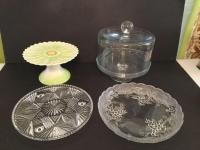 Cake Plates, Stand and Cover