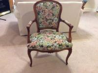 Tapestry upholstered side chair